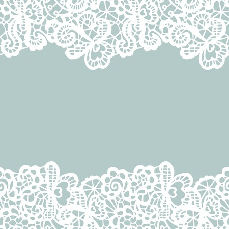 White vector lace on texture, template. Imagens - 38679534