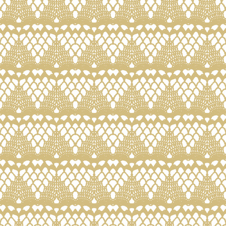 gold lace: White and gold lace seamless stripes pattern. Vector illustration. Illustration