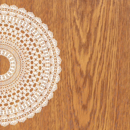 digital scrapbooking: White crochet doily. Vector illustration. May be used for digital scrapbooking.