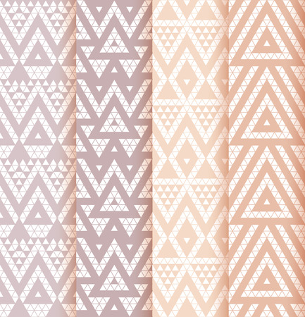 Tribal lace patterns in pastel colors. Vector illustration.  イラスト・ベクター素材