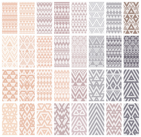 patterns vector: Tribal lace patterns in pastel colors. Vector illustration. Illustration