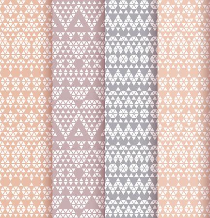 colores pastel: Patrones de encaje tribales en colores pastel. Ilustración del vector.