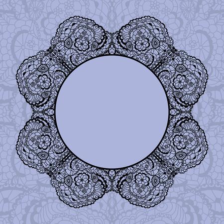gentle background: Elegant doily on lace gentle background for scrapbooks Illustration