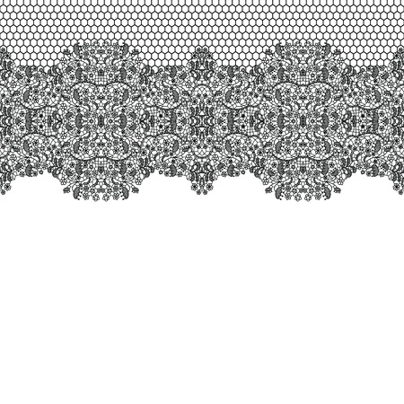 lace fabric: Lacy wedding invitation card.  Illustration