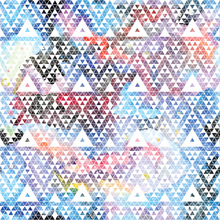 the trendy: Tribal galaxy seamless pattern. Vector trendy illustration.