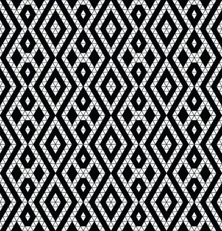 monochromic: Tribal monochrome lace. Trendy modern pattern for your design. Vector illustration. Illustration