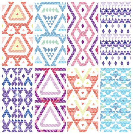 vintage patterns: Tribal monochrome lace patterns. Trendy modern patterns for your design. Vector illustration. Illustration