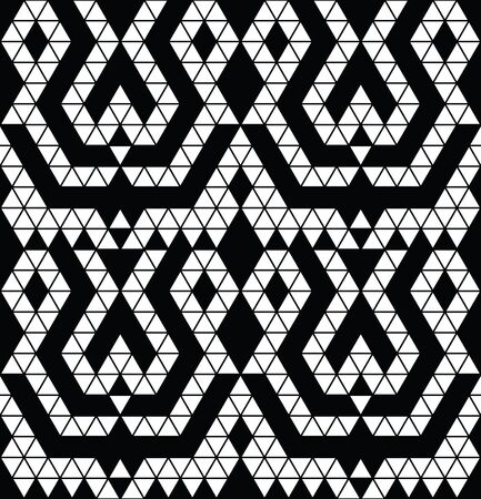 monochromic: Tribal monochrome lace. Trendy modern pattern for your design. Vector illustration. Illustration