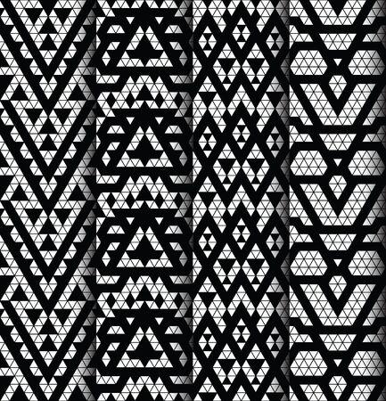black fabric: Tribal monochrome lace patterns. Trendy modern patterns for your design. Vector illustration. Illustration