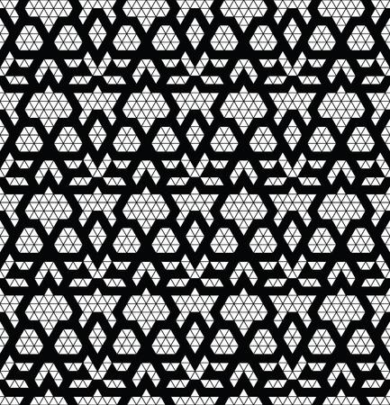 black fabric: Tribal monochrome lace. Trendy modern pattern for your design. Vector illustration. Illustration