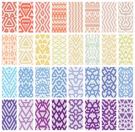 nailart: Tribal colorful lace patterns. Trendy modern patterns for your design.  Illustration