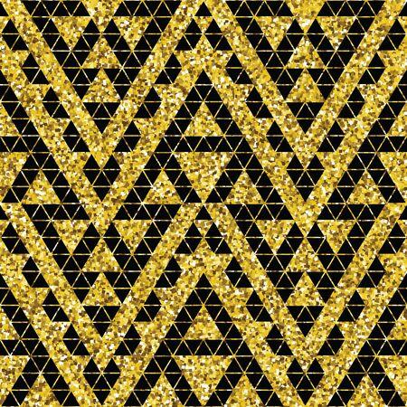 ethno: Tribal glitter golden seamless pattern. Trendy modern vector illustration. Illustration