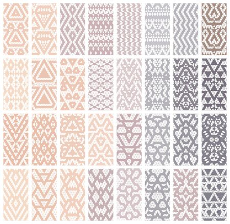 pastel colors: Tribal lace patterns in pastel colors. Vector illustration. Illustration