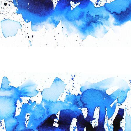 trendy: Watercolor abstract illustration. Raster trendy modern illustration.