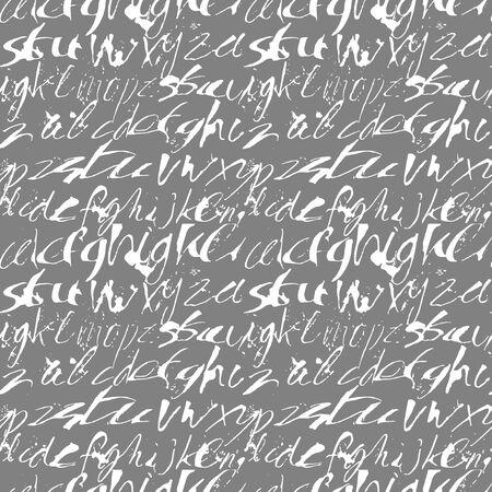expressive: Alphabet seamless pattern. Modern expressive digital pattern. Vector illustration.