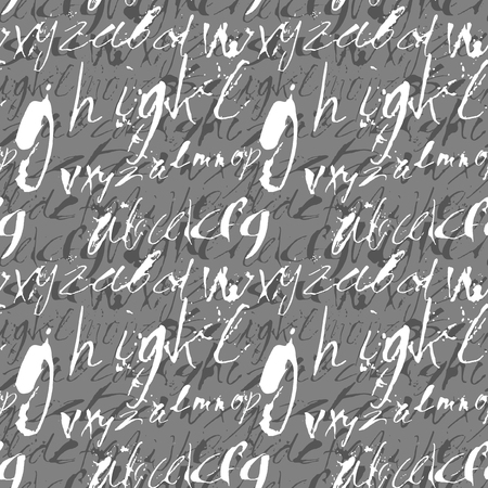 expressive: Alphabet seamless pattern. Modern expressive digital pattern. Vector illustration.