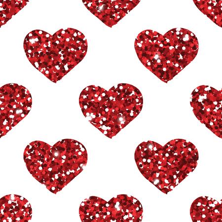heart seamless pattern: Glitter heart seamless pattern. Romantic beautiful pattern.