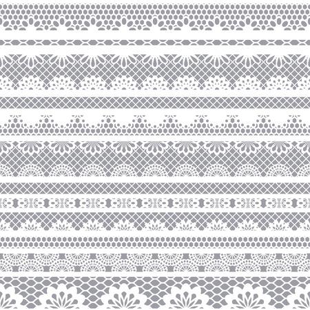 encaje: De encaje patrón blanco sin costuras. Modelo del cordón con las rayas.
