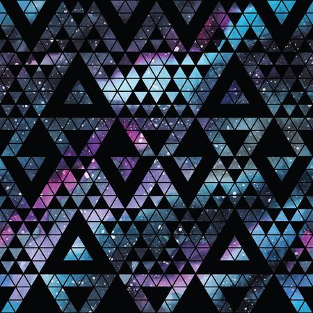 Seamless Galaxy con triangoli e forme geometriche. Vector moda illustrazione. Archivio Fotografico - 56645927