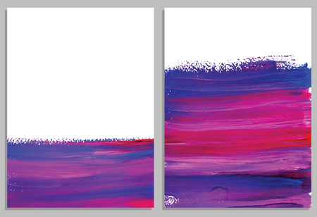 invitation cards: Art background cards. Abstract acrylic background. Collection of invitation cards. Vector illustration.