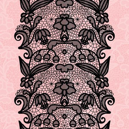 rosa negra: encaje blanco ajuste elegante de la vendimia