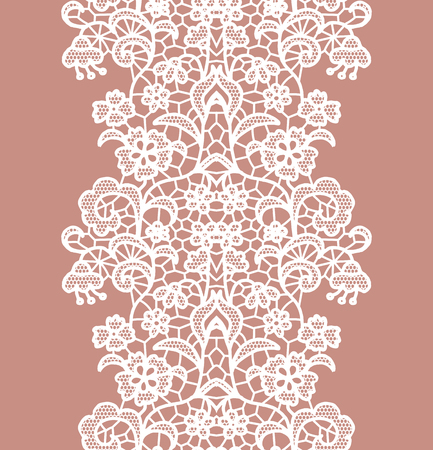 white trim: White lacy vintage elegant trim. Vector illustration.