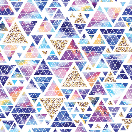 Triangular space design. Abstract watercolor ornament. Illustration