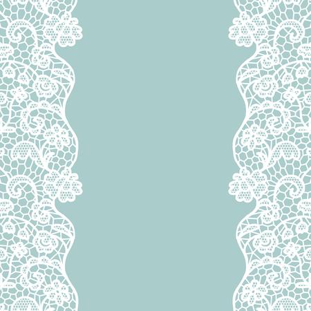 Seamless lace border.