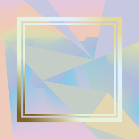 holography: Holographic background with triangles. Modern trendy hologramic background. Cool simply illustration.
