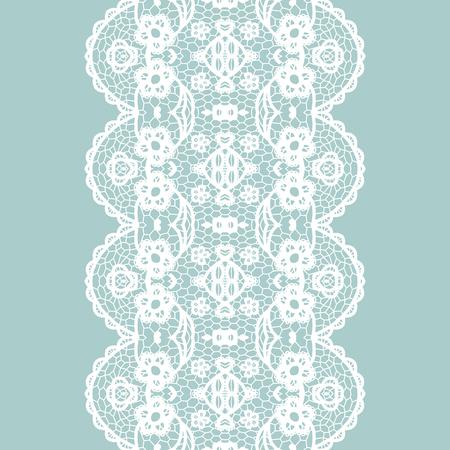 edge design: White lacy vintage elegant trim. Vector illustration.