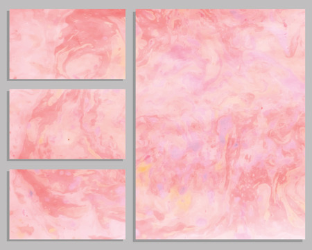 pastel backgrounds: Marble business cards. Collection of business cards. Vector illustration.