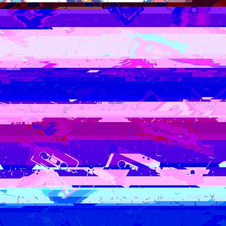 stripped: Glitch effect background. Raster abstract background. best for party flayers.