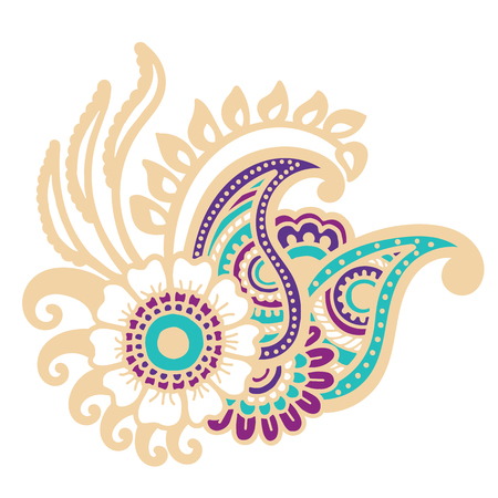 embellishment: Mehndi design. Floral abstract pattern. Vector illustration