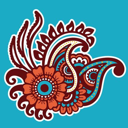 abstract illustration: Mehndi design. Floral abstract pattern. Vector illustration