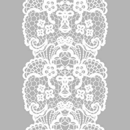 white trim: White lacy vintage elegant trim. Vector illustration.