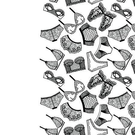 panty: Lingerie panty and bra background. Vector illustration.