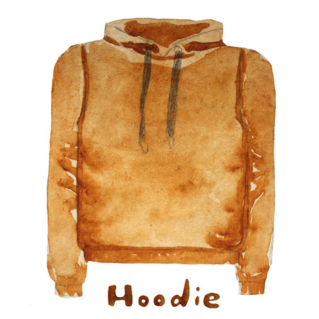 hoodie: Hoodie. drawn watercolor illustration.