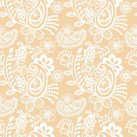 art flower: Paisley seamless pattern