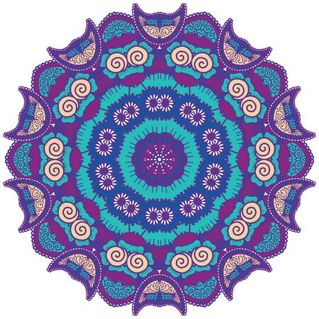 colored: Round colorful mandala. Illustration