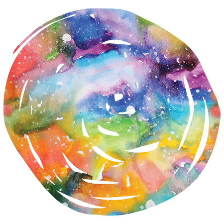 Watercolor galaxy background.