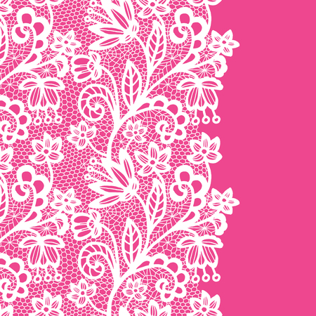 trabajo manual: Seamless lace border. Invitation card.