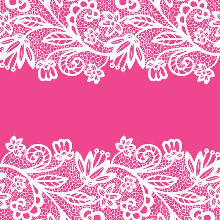 silhouette fleur: Bordure en dentelle transparente. Carte d'invitation.