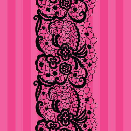 seamless floral pattern: Lacy vintage trim.