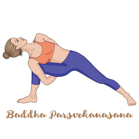 Women silhouette. Fully Bound Side Angle Yoga Pose Baddha Parsvokanasana