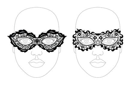 bdsm: Face lacy mask.