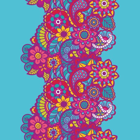 Mehndi ribbon. Paisley design. Ornament Vector illustration