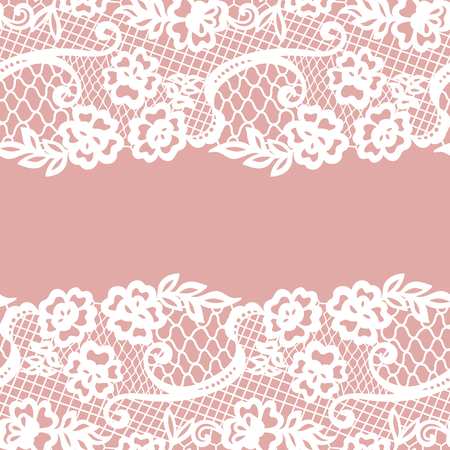 victorian wallpaper: Seamless lace border. Invitation card.