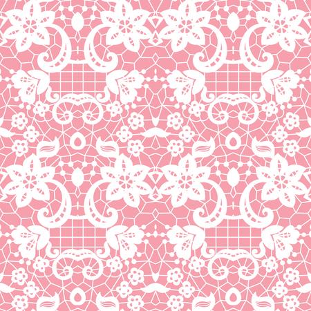 White lace seamless pattern