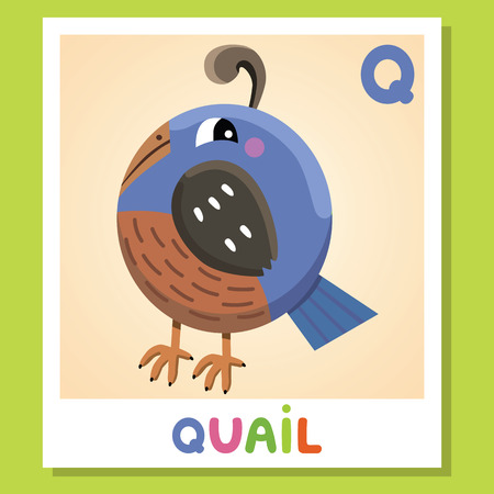 Cute funny illustration of animal alphabet Ilustração