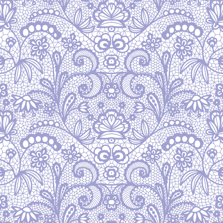 Lace seamless pattern with flowers vector illustration.